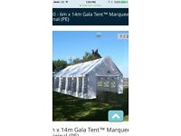 Professional large marquee and heaters