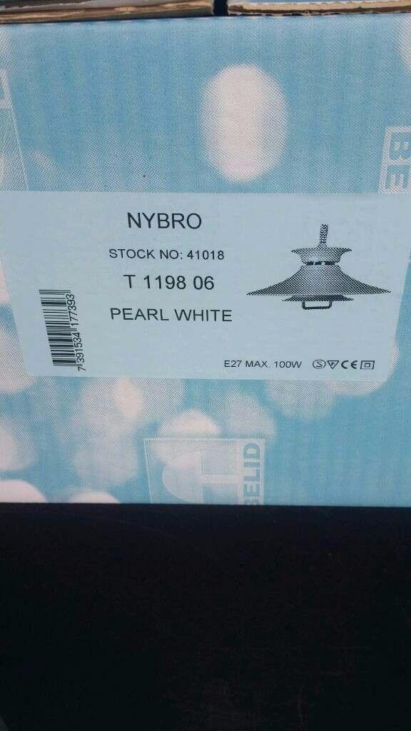 BARGAIN Nybro pull down pearl white industrial light bnib £9.99