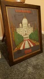 Taj Mahal Embroidery wall art