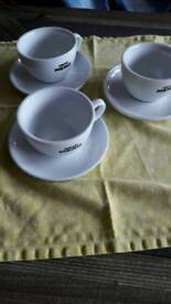 Care Nero 3 cups and saucers. New.