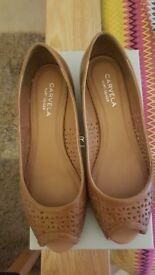 Carvela Tan (By Kurt Geiger) Shoes - size 6 8Worn once !