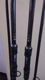 2X 12FT Daiwa Black Widow carp rods