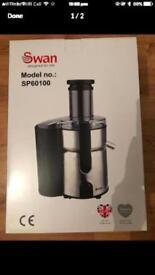 Brand-new swan juicer stainless steel