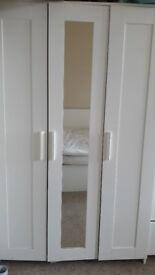 Ikea BRIMNES three door wardrobe (white) - £70 - like new