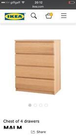 Ikea malm draws
