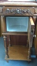 Antique French Marble Topped Pot Cupboard