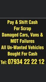 Allll unwanted vehicles wanted cars vans trucks lorries