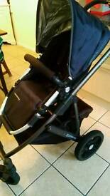 Uppababy vista with carrycot and car seat adapters