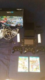 Nintendo Wii U Premium 32gb Boxed. Mario Kart 8, Super Smash Bros., 6 Controllers