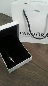 Genuine pandora moments double leather braclet in black