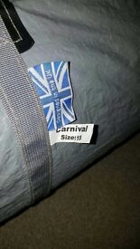 Caravan awning, carnival size 15, good used condition