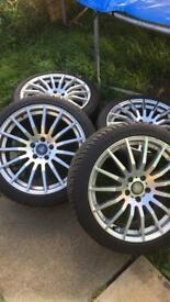 Jaguar tyres and alloys 18 inch