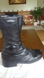 Ladies leather Trident Motorcycle Boots size 7