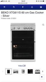 Beko silver 60cm gas cooker new graded comes with full manufacturing guarantee