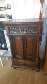 Antique Solid Wood Bar Cabinet