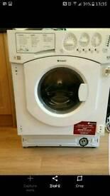 Intergrated washer dryer and fridge freezer
