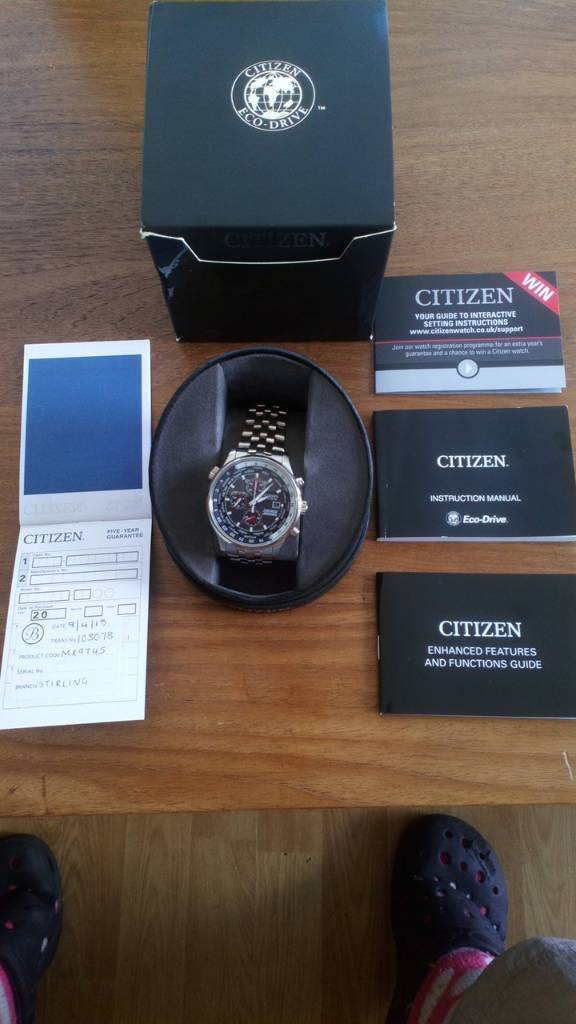 Citizen Eco Drive Watch Red Arrows Limited Edition Brand New In