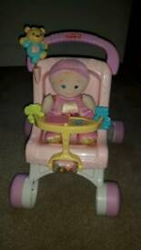 Fisher price my 1st pram and doll