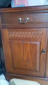 Mahogany corner glass cabinet