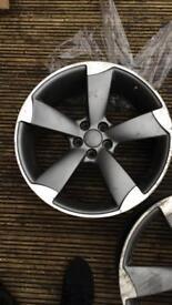 "Must see!!! Official Audi 18"" Rotary Diamond Cut Alloy wheels Full Set Rims"