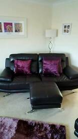 3 & 2 seat sofas, chair and stool