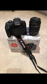 Canon 750D with 18-55mm lens, remote shutter & 3 x batteries