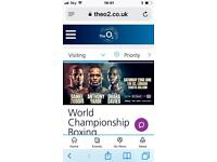 World champion genuine Boxing tickets (b row tickets (ring side) for 23/06 at the O2