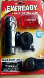Eveready 2 piece led bike light