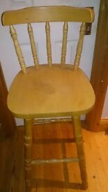 SOLID PINE Farmhouse 'Breakfast Bar Chair' in Excellent Condition + Free Delivery