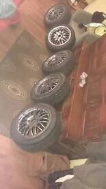 4x100 Dotz alloy wheels