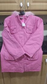 Girls padded jacket pink size 10-11 year old brand new never been used. Bargain price.