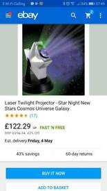 Sensory starlight projector £20
