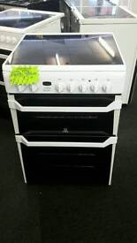 INDESIT 60CM ELECTRIC DOUBLE OVEN COOKER