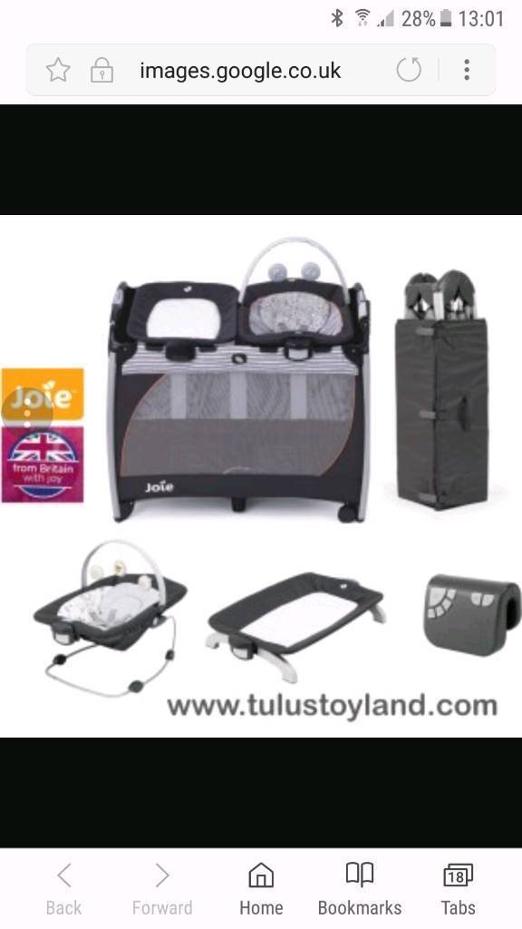 Joie travel cot and accessories
