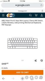 iKBC Poker Pro 61 KeysMX Switch,, Mechanical Keyboard, PBT Keycaps