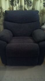 As new comfy manual reclining chair
