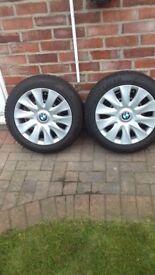 BMW 1 Series Winter Tyres & Steel Rims +Trims 2011/14 Models x 4