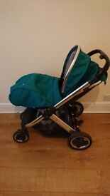 Oyster2 Pushchair with deep topaz colour pack
