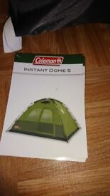 Tent Coleman instant dome 5 five man birth tent brand new never used