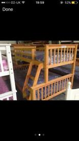 Pine triple bunk bed sale