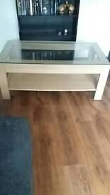 Glass top coffee table free !!