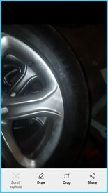 """Original audi a5 17"""" alloys with new tryes. Excellent condition. No scuffs, scratches or buckles"""