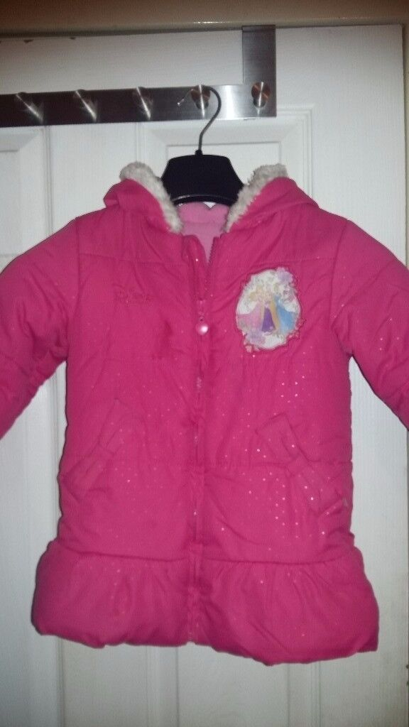 Little Girls Lovely Pink Warm Jacket Coat for 3-4 years