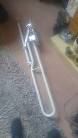 Disabled fold up toilet handle