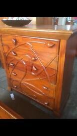 Hardwood solid carved drawers