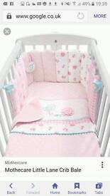 Mothercare daisy lane cot bed set