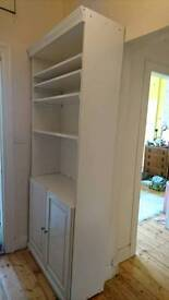 White Bookcase/Sideboard with Cupboards