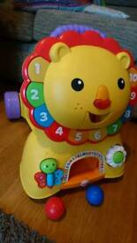 Fisher price walker and ride on lion