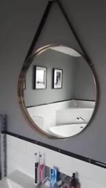 Copper/ rose gold round mirror NEW