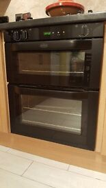 2 year old Belling BI70 FP built-under electric double oven (Black)